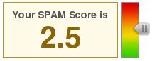 Le score du message spam homographié